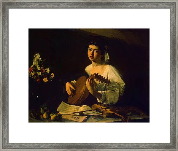 The Lute Player Framed Print by Caravaggio