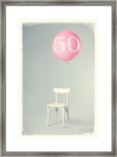 50th Birthday Framed Print