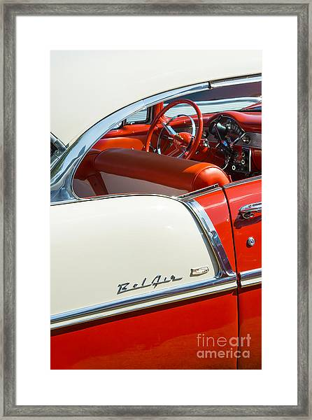 55 Chevrolet Sport Coupe Framed Print