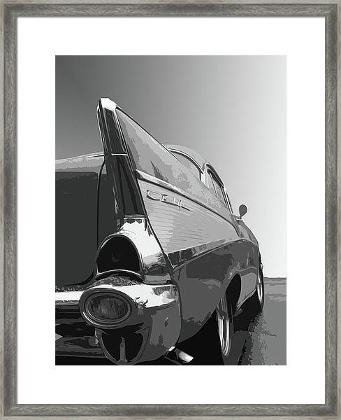 57 Chevy Verticle Framed Print
