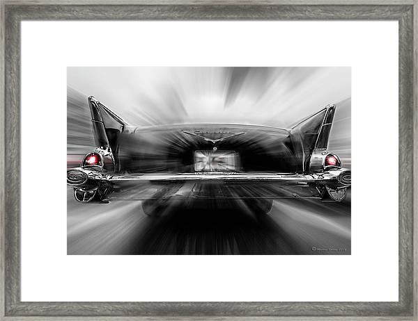 57' Taillights Framed Print