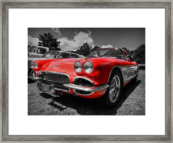 Framed Print featuring the photograph '59 Corvette 001 by Lance Vaughn