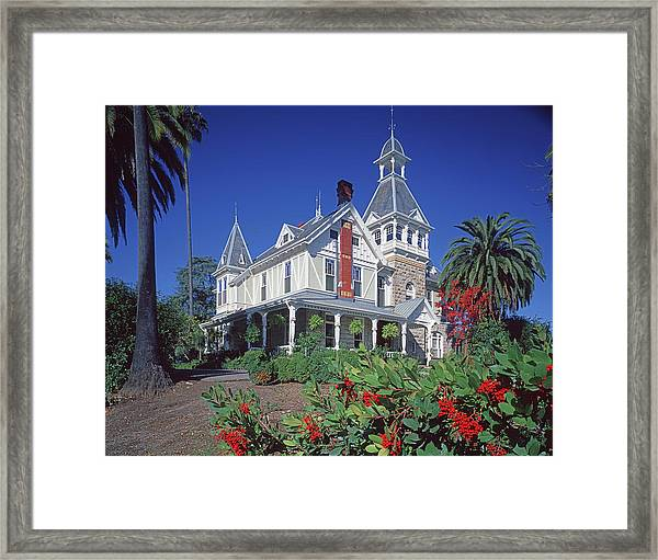 5b6386 Villa Miravalle Spring Mountain Vineyard Falcon Crest Framed Print