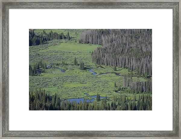 Scenery Rocky Mountain Np Co Framed Print