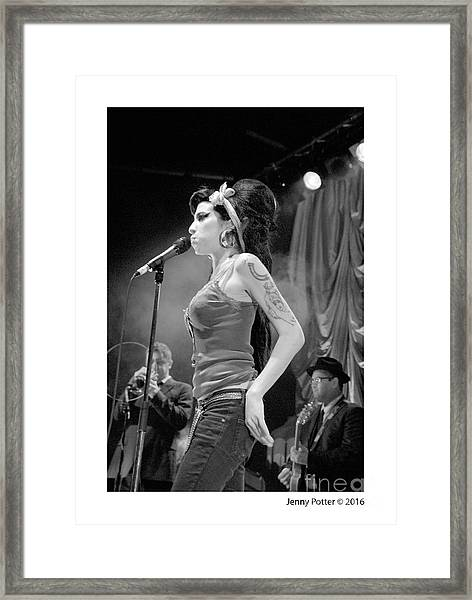 Amy Winehouse Framed Print
