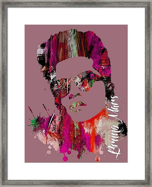 Bruno Mars Collection Framed Print