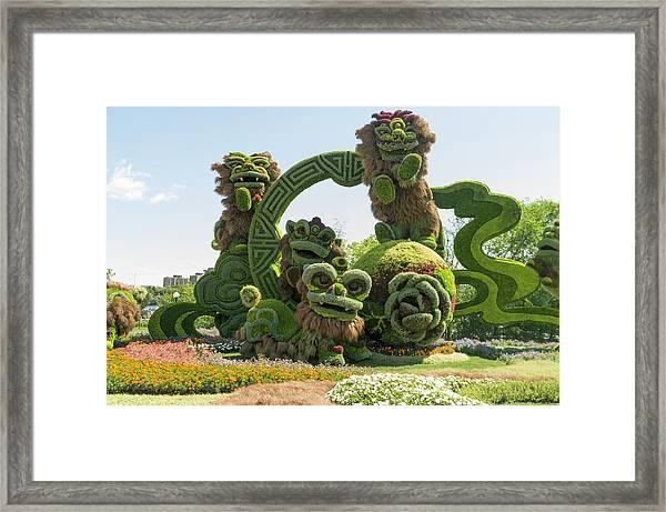From Shanghai Joyful Celebration Of The Nine Lions 3 Framed Print