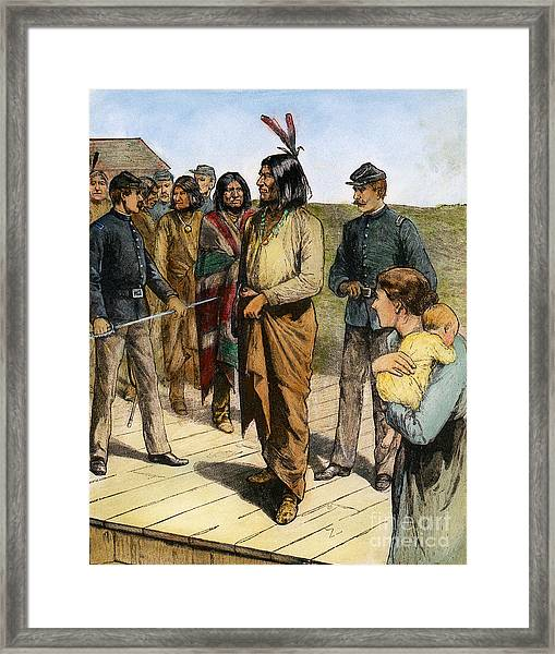 Geronimo 1829-1909.  To License For Professional Use Visit Granger.com Framed Print