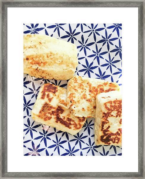 Halloumi Cheese Framed Print