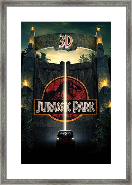 Jurassic Park 1995  Framed Print