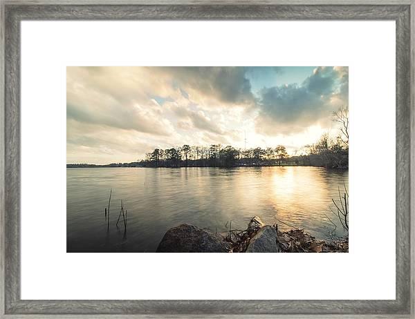Lake Sunset Framed Print