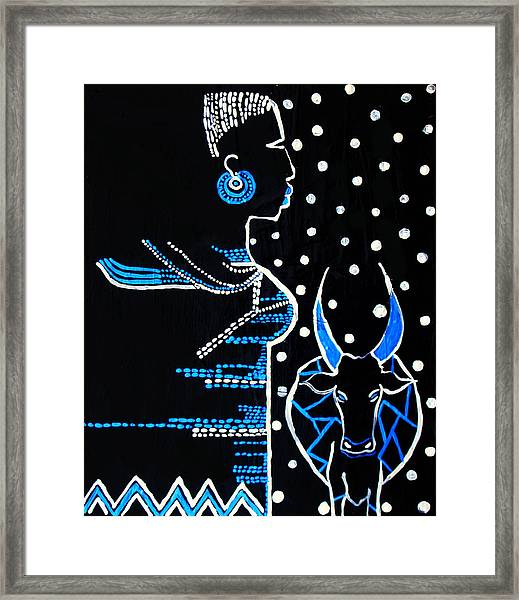 Murle Bride - South Sudan Framed Print