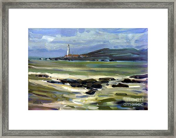 Pigeon Point Light Framed Print by Donald Maier