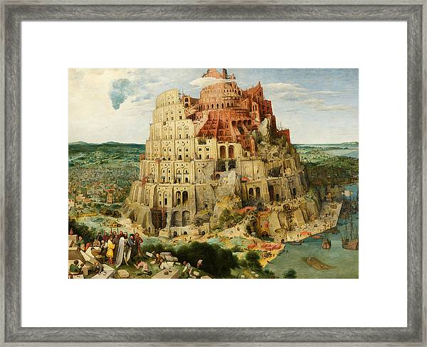 The Tower Of Babel  Framed Print