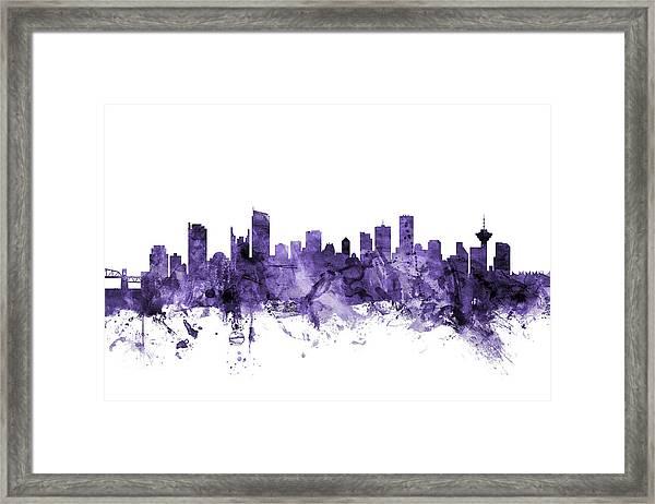 Vancouver Canada Skyline Framed Print