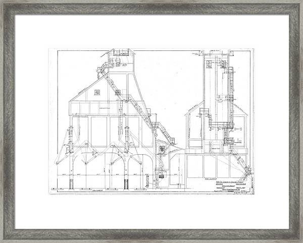 600 Ton Coaling Tower Plans Framed Print