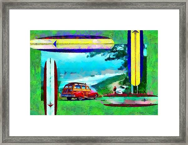 60's Surfing Framed Print