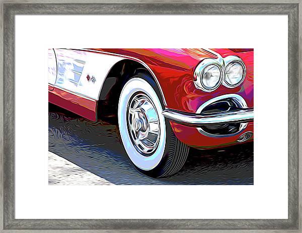 61 Corvette Framed Print
