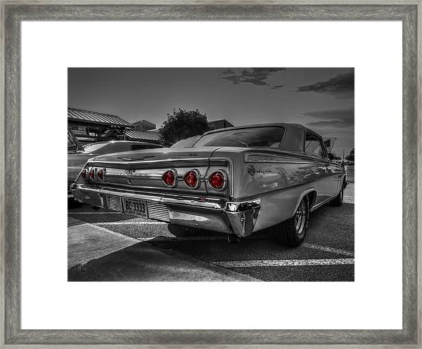 Framed Print featuring the photograph '62 Impala Ss 001 by Lance Vaughn