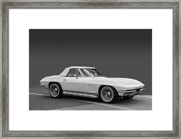 65 Corvette Roadster Framed Print