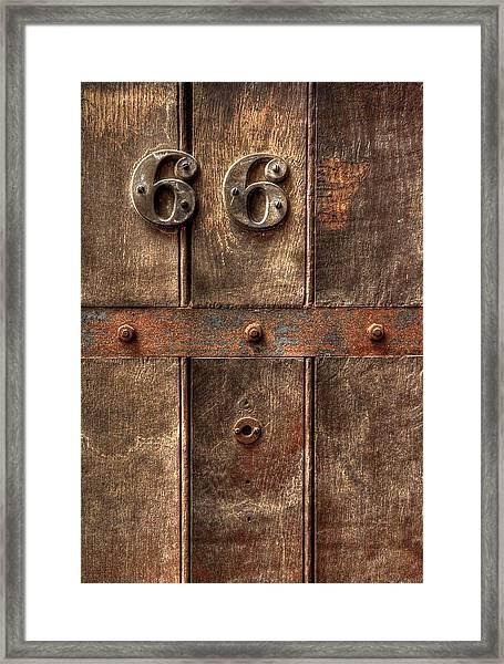 66... Framed Print