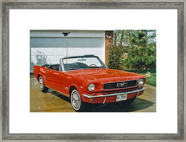 66 Mustang Convertable Framed Print