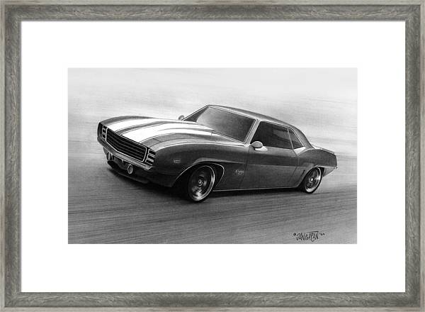 '69 Camaro Framed Print