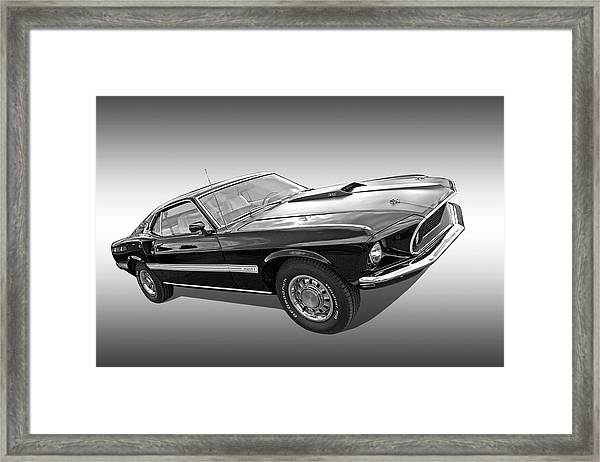 69 Mach1 In Black And White Framed Print