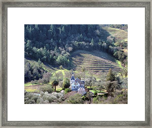 6b6312 Falcon Crest Winery Grounds Framed Print