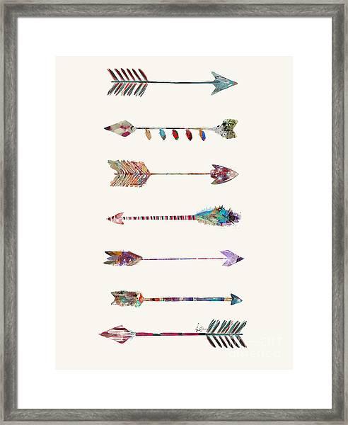 7 Arrows Framed Print