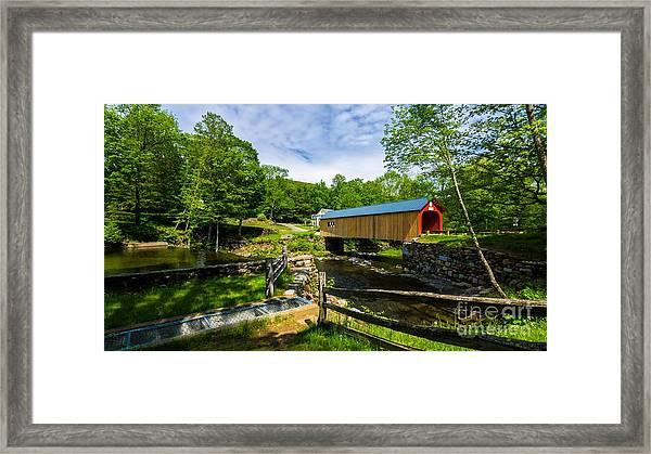 Green River Covered Bridge. Framed Print