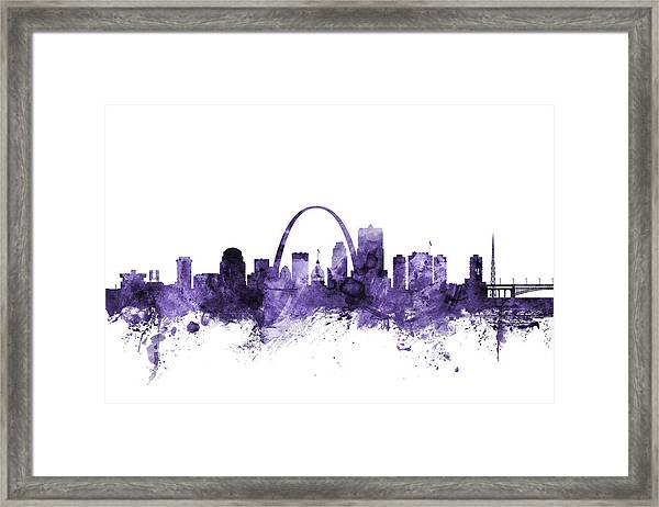 St Louis Missouri Skyline Framed Print