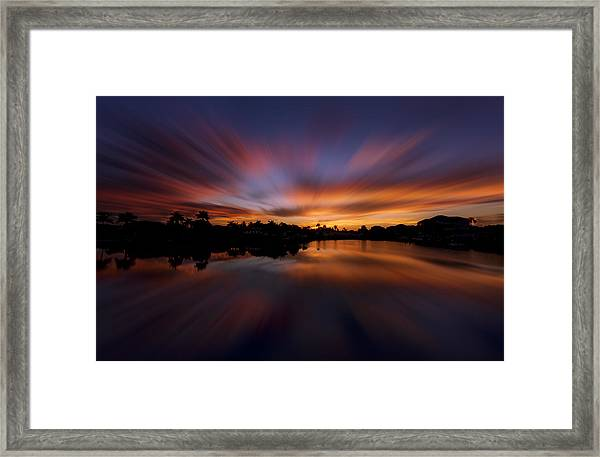 Sunrise At Naples, Florida Framed Print