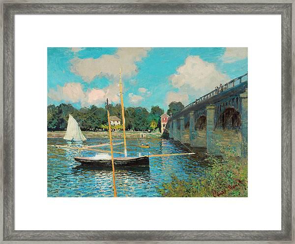 The Bridge At Argenteuil Framed Print