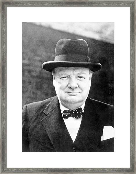 Winston Churchill Framed Print