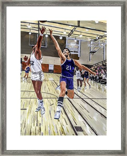 Framed Print featuring the painting 70's Layup by Kevin Daly