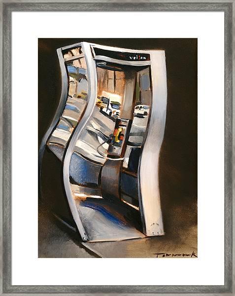 72nd Street Payphone Art Print Framed Print