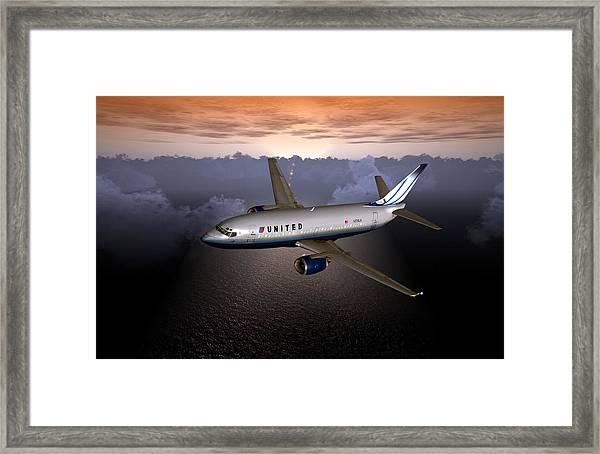 737 Ual 06 Framed Print