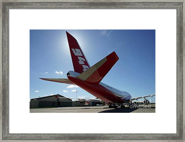 Framed Print featuring the photograph 747 Supertanker At Mcclellan by Bill Gabbert