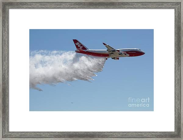 747 Supertanker Drop Framed Print