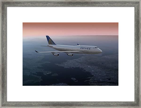 747twilight Framed Print