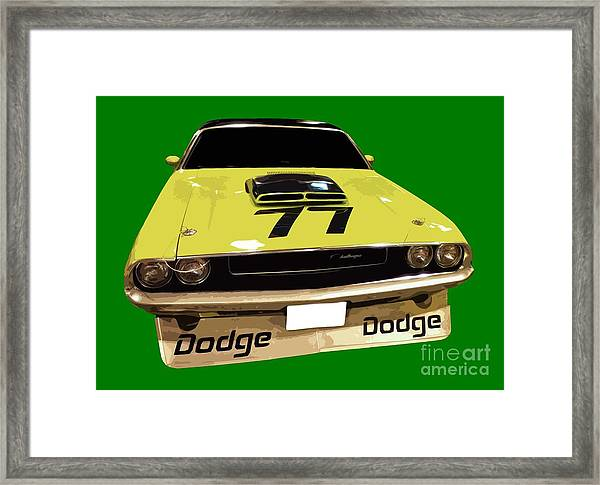 77 Yellow Dodge Framed Print