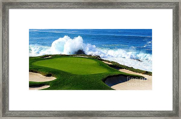 7th Hole - Pebble Beach  Framed Print