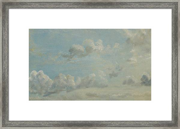 British Title Cloud Study Framed Print