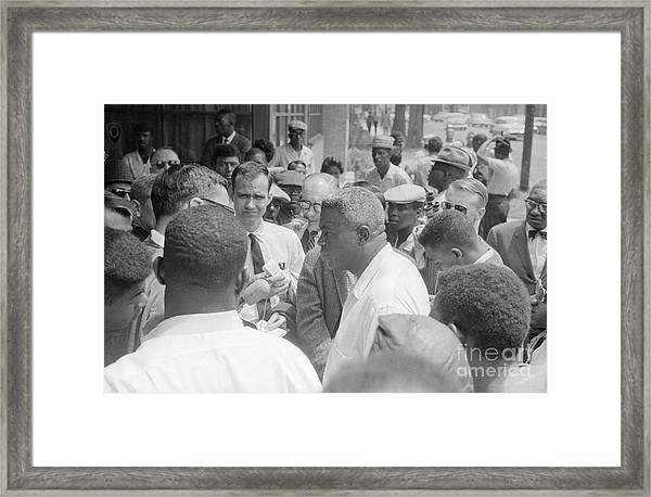 Jackie Robinson 1919-1972 - To License For Professional Use Visit Granger.com Framed Print
