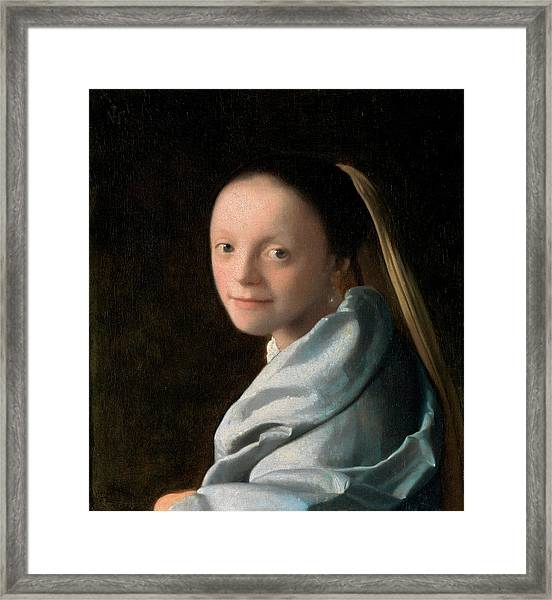 Study Of A Young Woman Framed Print