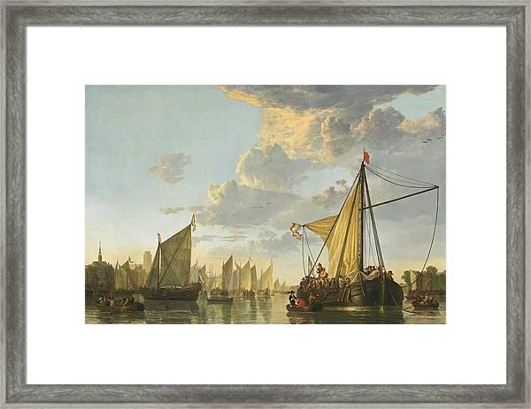 The Maas At Dordrecht -- Framed Print