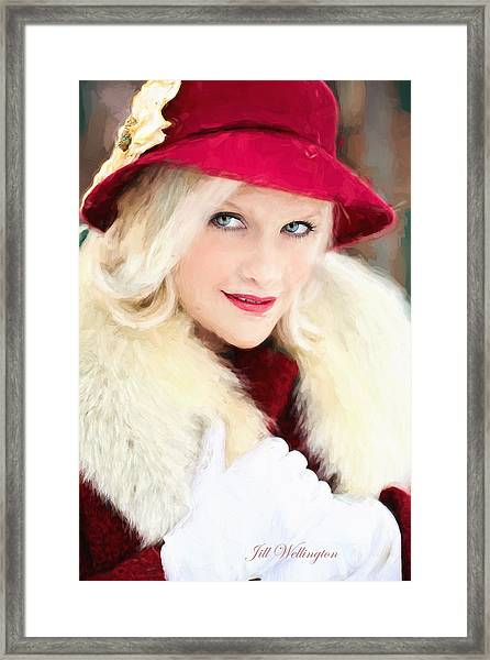 Vintage Val Home For The Holidays Framed Print