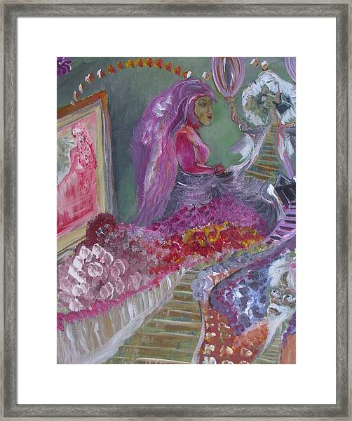 A Step Into The Mirror Framed Print by Michael Braun