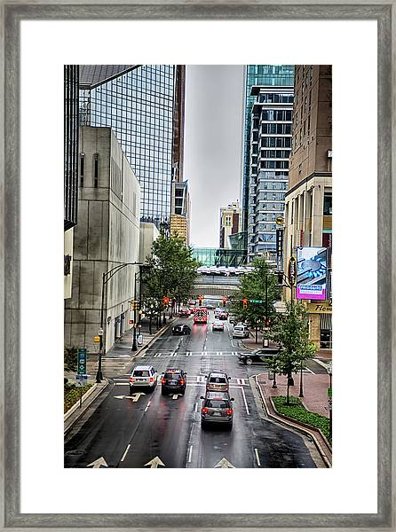 Charlotte North Carolina Views Around  Downtown Framed Print